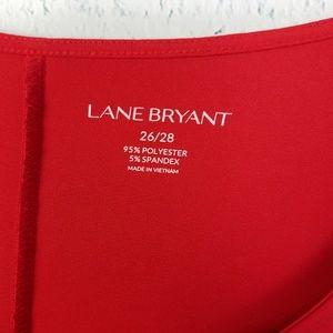 Lane Bryant Tops - Lane Bryant Red Dolman Blouse